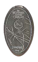 Jack Skellington Nightmare Before Christmas pressed elongated quarter. Click for larger image.
