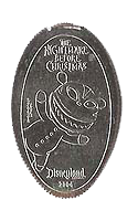 Scary Teddy Nightmare Before Christmas pressed elongated quarter. Click for larger image.