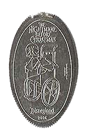 Finkelstein Nightmare Before Christmas pressed elongated quarter. Click for larger image.