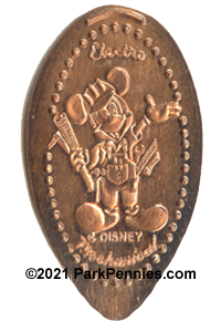 CM0040 Cast Member Electro Mickey pressed penny with © and DISNEY.