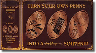 2019 D23 Expo pressed penny machine marquee.