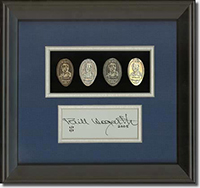 Bill Hogarth coin set with signature card