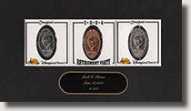 Jack Steiner coin set with signature card