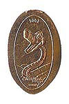 CA0040 Retired 2002 Kaa Villain stretched penny.