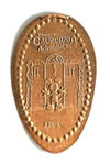 CA0053 Retired DISNEY'S CALIFORNIA ADVENTURE Mickey Mouse Hollywood Tower of Terror stretched penny.