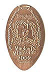 CA0059 Retired 50th 2001 Golden Gate Bridge Monorail stretched penny