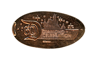 CA0200 60th Diamond Celebration Castle Silhouette pressed penny