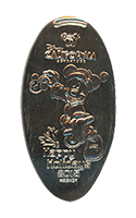 CA0207 Santa Mickey Happy Holidays 2015 pressed nickel