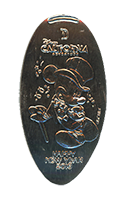 CA0209 Top Hat Mickey Happy New Year 2016 pressed nickel
