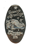 CA0220 Lighting McQueen Season's Greetings 2016 Holiday Pressed Nickel