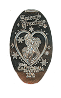 CA0221 Anna and Elsa Season's Greetings 2016 Holiday Pressed Nickel