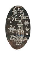 CA0222 Carthay Circle Happy New Year 2017 Holiday Pressed Nickel