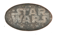 CA0223-225r Disney California Adventure Star Wars pressed quarter backstamp.