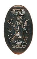 CA0224 Han Solo from the movie Star Wars pressed quarter.