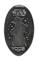 CA0232 STAR WARS YODA Silhouette pressed quarter.