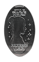 CA0233 STAR WARS LEIA pressed quarter.