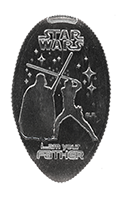 CA0234 STAR WARS -Luke, I am your father- pressed quarter.