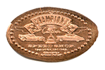 CM0054 Cast Member CHAMPIONS SPEED SHOP, RADIATOR SPRINGS Pressed Penny.