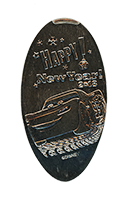 CA0246 HAPPY NEW YEAR 2017 Carthay Circle Theater pressed nickel.