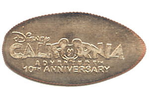 DCA 10th Anniversary pressed dime reverse