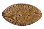 The DN0001 Mickey Rays - Mickey Sunburst.  The First Disney pressed coin design