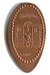 DN0031 Retired DISNEYLAND Mickey Mouse Tower of Terror stretched penny prototype.