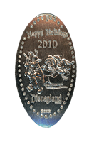 DN0085 2010 HAPPY HOLIDAYS MICKEY AND MINNIE SLEIGH RIDE Prototype Pressed Nickel.