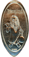 DN0098 HAUNTED MANSION GHOST GUS GRACEY Prototype Pressed Quarter.