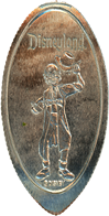 DN0099 HAUNTED MANSION GHOST EZRA DOBBINS Prototype Pressed Quarter