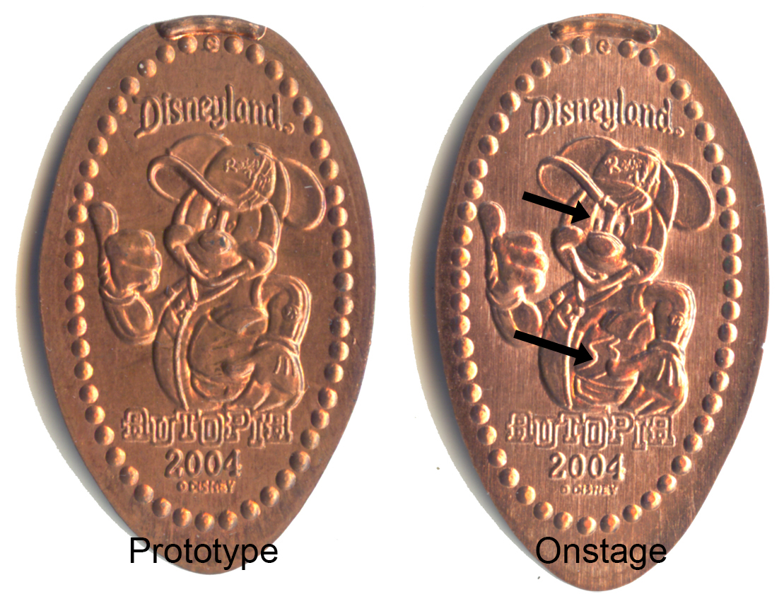 DL0232 and DN0030 Comparisons, Disneyland Pressed Pennies