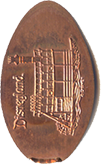 Mark Twain DN0034 Prototype  Disneyland pressed penny comparison
