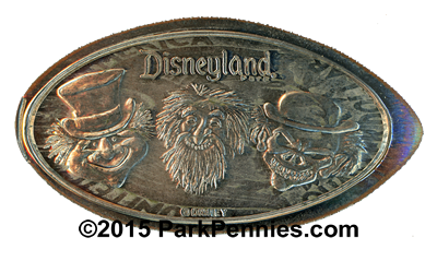 DN0096 HAUNTED MANSION GHOSTS PHINEAS, GUS, AND EZRA Prototype Pressed Quarter.