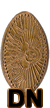 Pressed Penny or Elongated coin prototype coin number dn0001.
