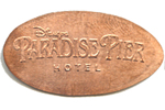 Paradise Pier Hotel pressed penny