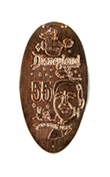 DR0160 60th Opening Day Walt Disney pressed penny