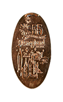 DR0161 60th Opening Day Castle & Attractions pressed penny
