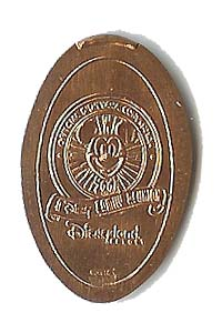 Standard view of Disneyland pressed coin variation