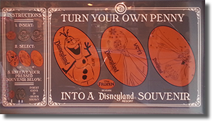 Penny Press Marquee, DR0162-164 Anna and Elsa's on 7/22/15