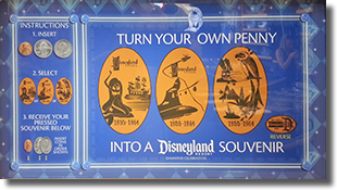 1955-1964 Disneyland 60th Decades pressed penny set
