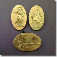Hong Kong Disneyland pressed penny pins 6/1/2013
