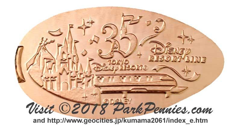 Retired 2008 Tokyo Disneyland Resort 25th Anniversary Pressed Penny Book