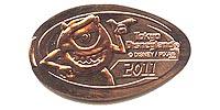 TDL1113 Tokyo Disneyland Park 2011 Mike Pressed Penny or Medal.