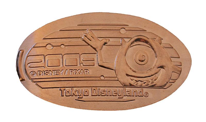 Tokyo Disneyland pressedpenny medal for 2009 Mike.