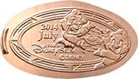 Chip N Dale pressed penny from Tokyo