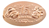 TDR 15th Anniversary pressed coin