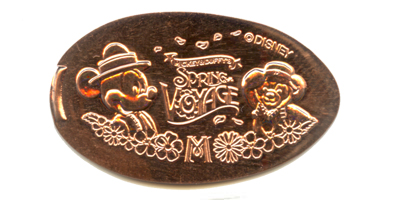 TDR305 Mickey and Duffy pressed penny