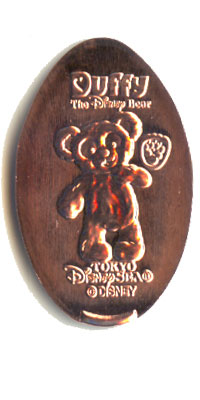 Baby Duffy the Disney Bear Tokyo DisneySea Pressed Penny Picture