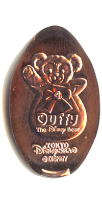 Babby Duffy in bag Tokyo DisneySea Pressed Penny Picture