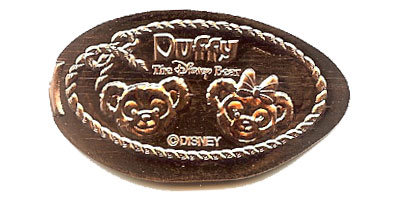 Duffy and Shellie May Tokyo DisneySea Donald pressed penny
