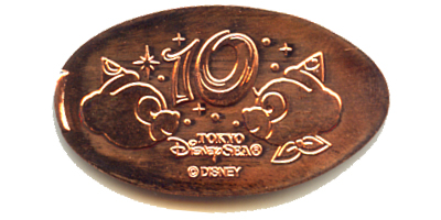 Tokyo DisneySea pressed penny of the month